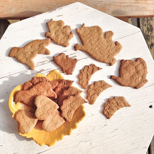 hedgehog and moomin gingersnaps etc with cat pattern