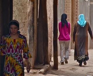 China-Xinjiang-Kashgar streets