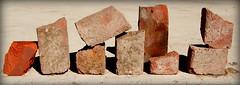 Brick pieces  #isitart?