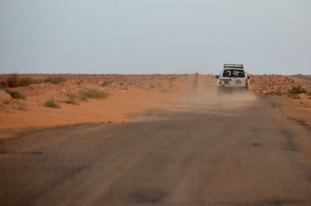 4x4 por las carreteras del desierto de Douz