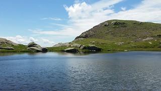 Einsamer Bergsee am Fusse der Laugenspitze