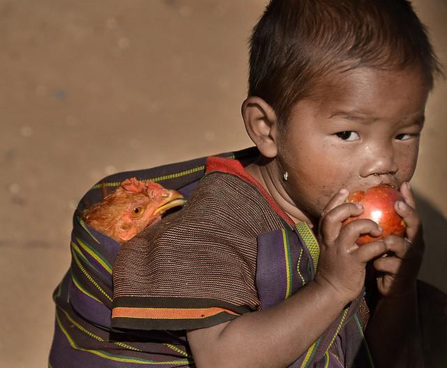 A nice tribe child portrait, Keng tung, Myanmar