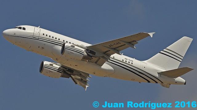 A6-CAS - Constellation Aviation Services - Airbus A318-112(CJ) Elite - PMI/LEPA