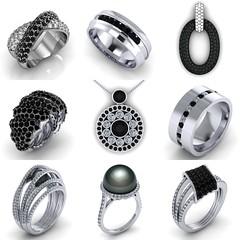 Jewelry with Black Diamonds