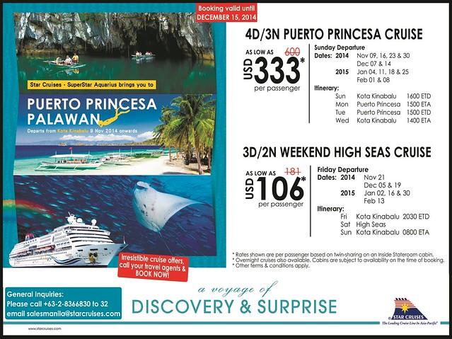 Star Cruises Kota Kinabalu - Puerto Princesa Cruise