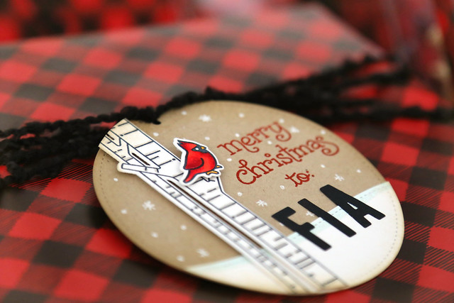 woodsy holiday tags