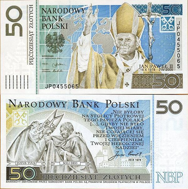 50 Zlotych Poľsko 2006 - Pápež Ján Pavol II. Pick 178
