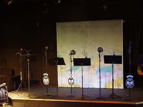 Stage setup at Academy Theatre