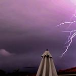 Close lightning strike(video still)