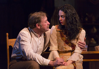 Christopher Donahue and Kathleen McElfresh in the Huntington Theatre Company production of the moving Irish drama The Second Girl by Ronan Noone, directed by Campbell Scott, playing January 16 – February 21, 2015 at the South End/Calderwood Pavilion at the BCA. Photo: T. Charles Erickson