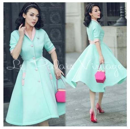 mint vintage dress
