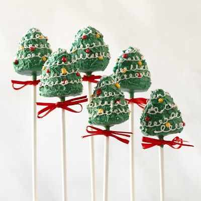 Christmas Tree Cake Pops