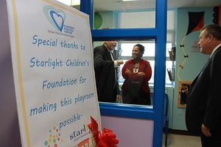 Opening of Elmhurst Hospital's Children's Playroom
