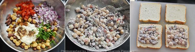 Legumes Salad Sandwich Recipe - Step3
