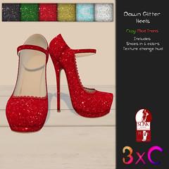3xC Dawn Glitter Heels