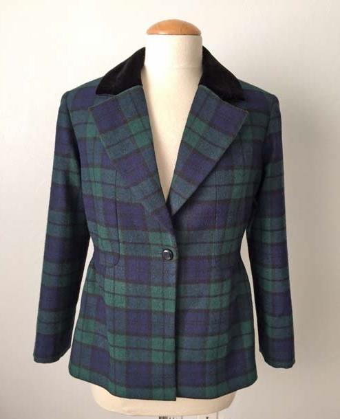plaid jacket front