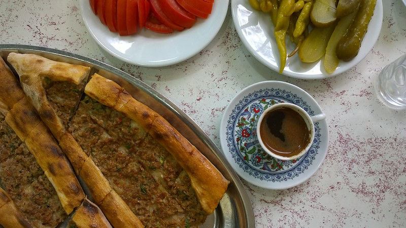 pide and turkish coffee
