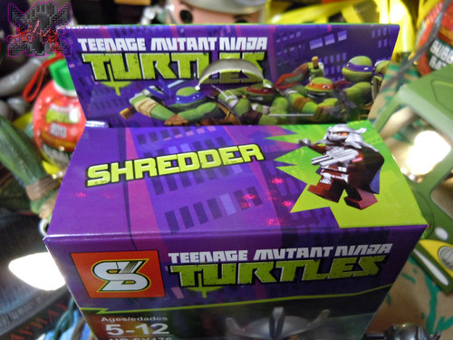 "Sheng Yuan TEENAGE MUTANT NINJA TURTLES :: ""SHREDDER"" Bootleg Minifigure Set / ..box i (( 2014 ))"