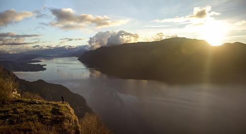 sunset lake mountains alps les alpes french lac savoie aix bains bourget épine chambotte