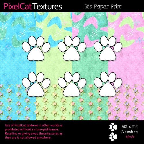 PixelCat Textures - 50s Paper Print