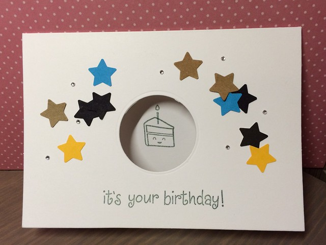 Cute cake card by StickerKitten