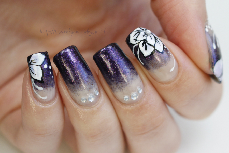 gradient_manicure_flowers