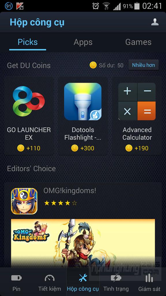 DU Battery Saver giới thiệu ứng dụng