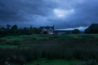 Langley Gatehouse at nightfall