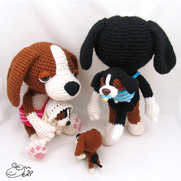 Bealy Beagle dog amigurumi pattern - free cross stitch patterns ... | 500x500