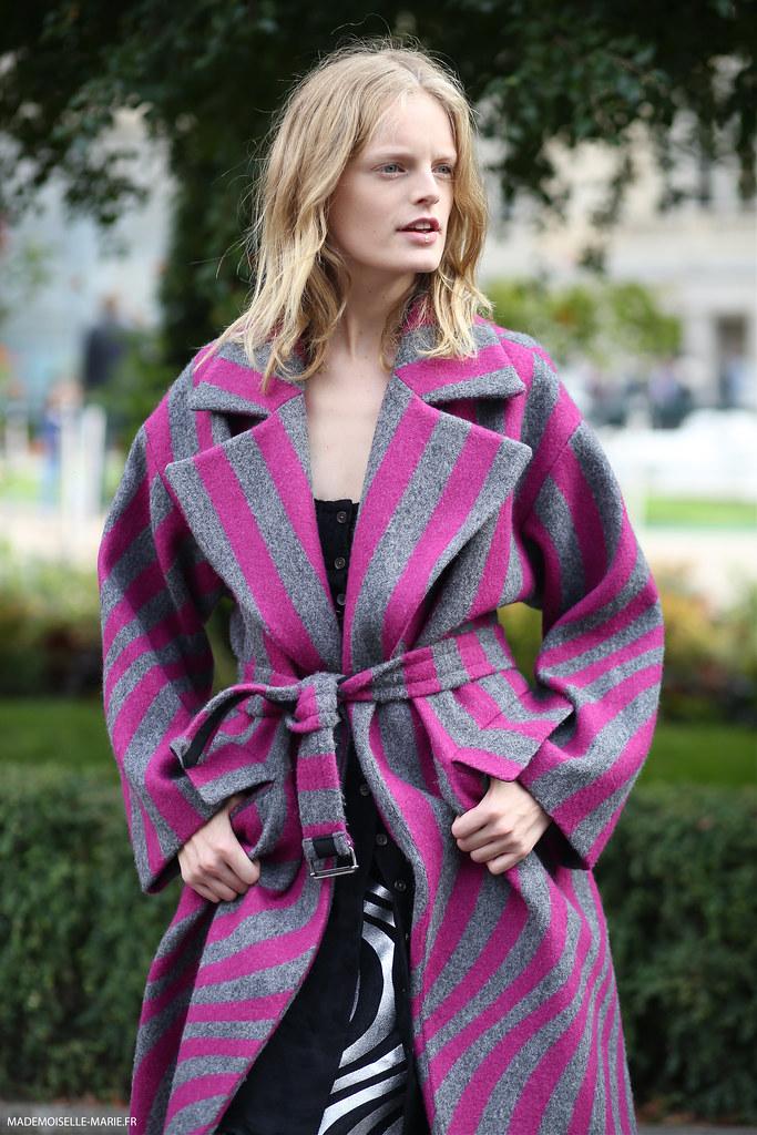 Hanne Gaby Odiele at Paris fashion week
