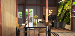 NY City Tech Solar Decathlon 2015 House Rendering: Interior 2