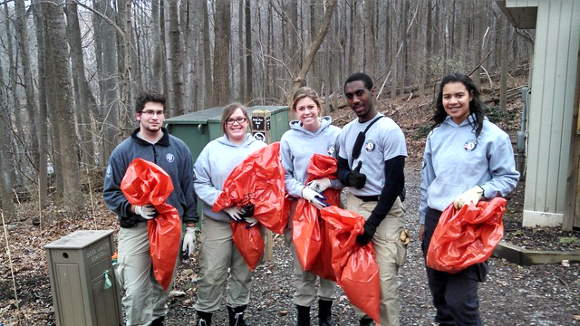 Americorps Helps Clean Up Cabin John Creek