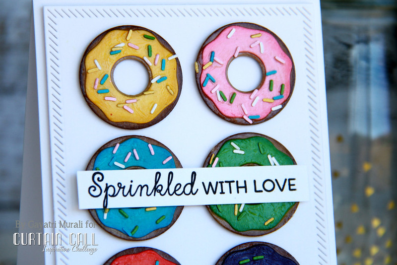 donut card closeup