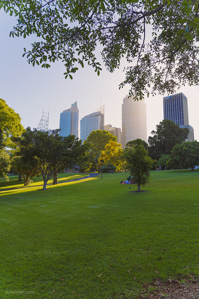 Awesome large green areas to relax in the middle of the city centre in Sydney
