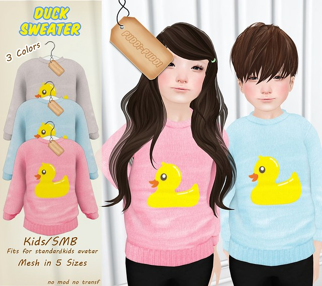 ::Puddi-Puddi:: Kids/SMB Duck Sweater