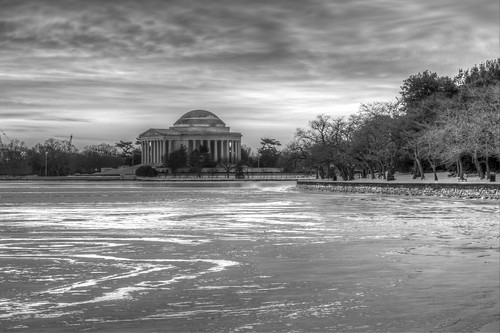 Jefferson Memorial Across the Frozen Tidal Basin by Geoff Livingston