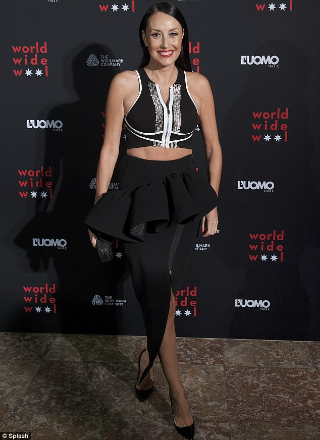 High-waisted-frill-zip-front-skirt-with-sleeveless-crop-top,turtle neck sweater, split skirts, slit skirts, slit pencil skirts, split pencil skirts, Christian Louboutin So Kate pumps, slit zipped leather skirt, kinky gladiator heels