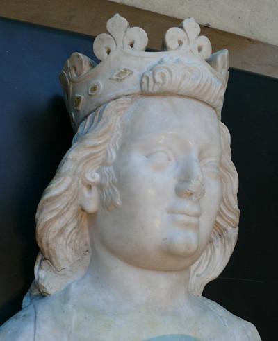 Sculpture of Charles IV of France by Jean de Liège