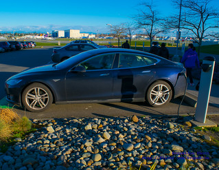 03 - Tesla Model S in the Low Winter Afternoon Sun
