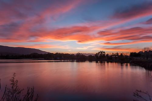 sunset alamadenlakepark