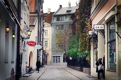 Улочки Центрального района Риги. Riga. Latvia.