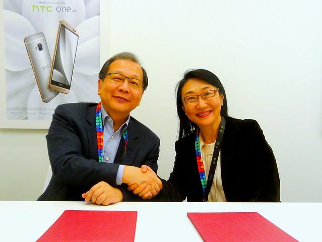 中華電信與HTC宣佈簽署2015年合作備忘錄