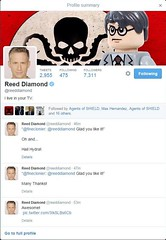Fine Clonier has added a photo to the pool:Reed Diamond the actor who plays Daniel Whitehall on Marvel Agents of SHIELD has used my photo as his banner art on his twitter page.  This is awesome!