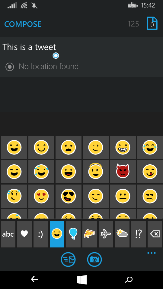 Keyboard emoticons