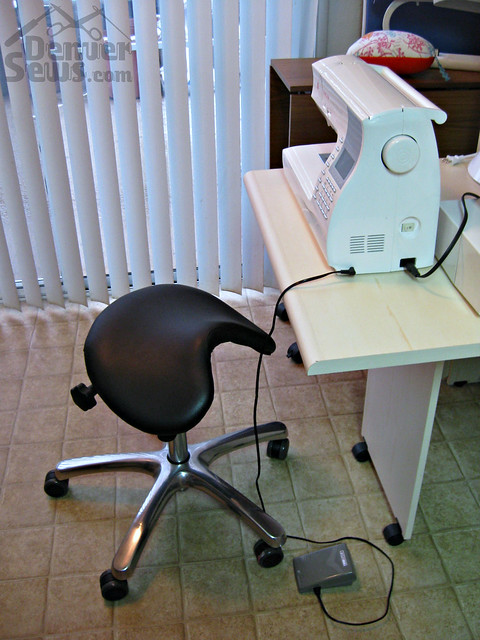 Tiny Sewing Corner - Saddle Chair