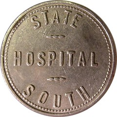 Idaho Insane Asylum $1 token obverse
