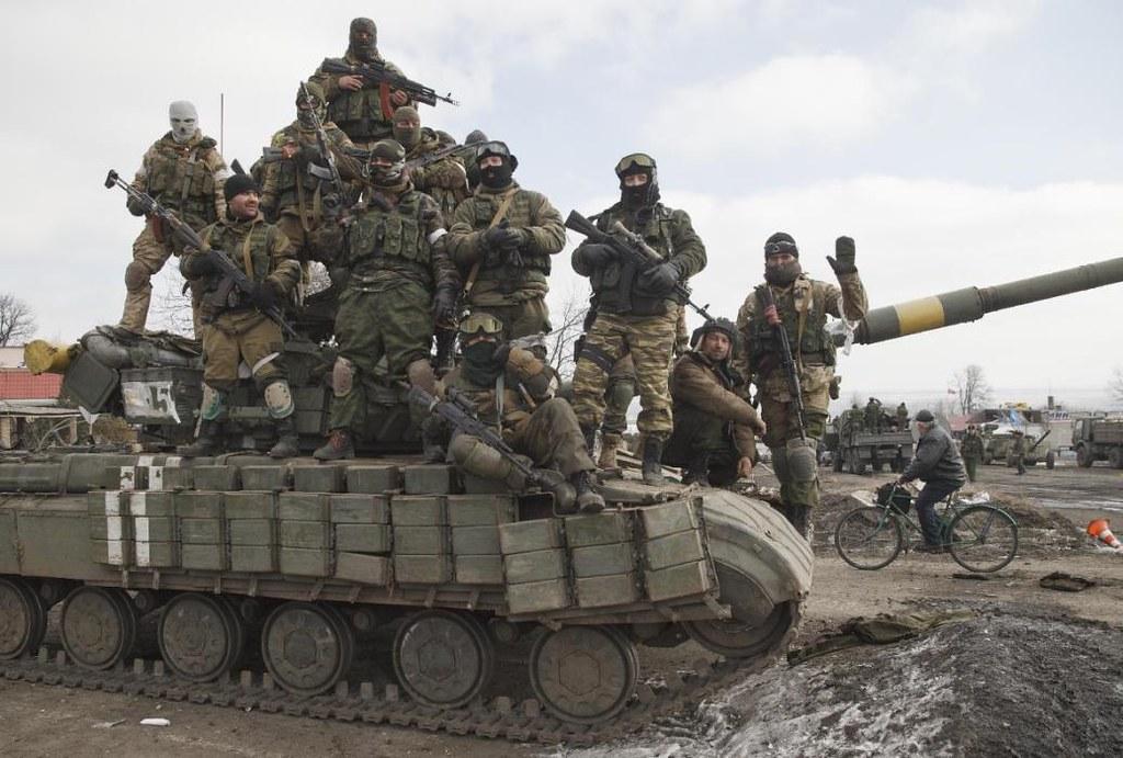 烏克蘭親俄民兵武裝進入戰略重鎮德巴利采沃。