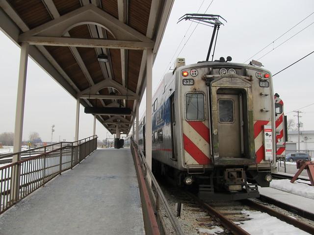 Metra Electric Train at Blue Island
