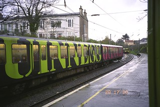 DART train at Dun Laoghaire Station