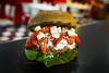 GTO - Spinach, Roasted Red Peppers, Feta Cheese, and Tzatziki on Whole Wheat Bun